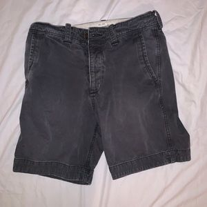 Abercrombie & Fitch Charcoal Khaki Shorts